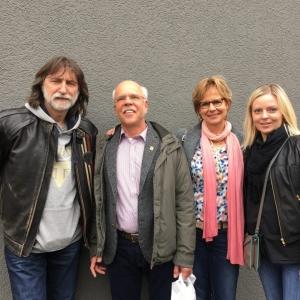Хозяин компании Schoeps, Ulrich Schoeps с супругой, Никита Степанов (СтудиТек), Дарья Платонова (СтудиТек).